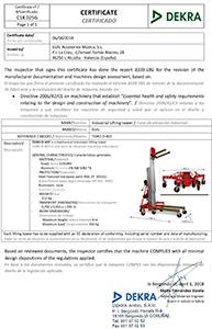 Certificado-DEKRA-TORO-D-407