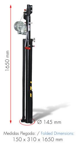 ELC-710 Medidas Plegada