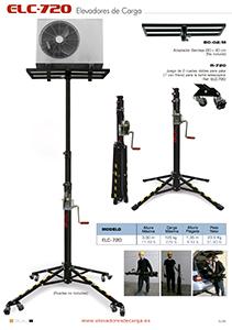 Elevador telescópico para equipos de aire acondicionado