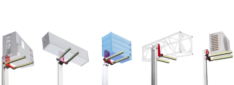 Aplicadiones como aa/cc, estructuras, persianas, toldos, etc. de los elevadores de carga