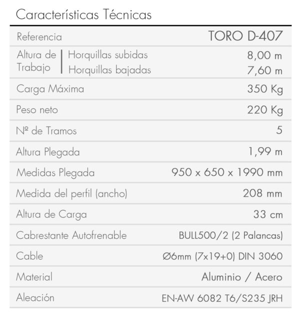 TORO D-407-es