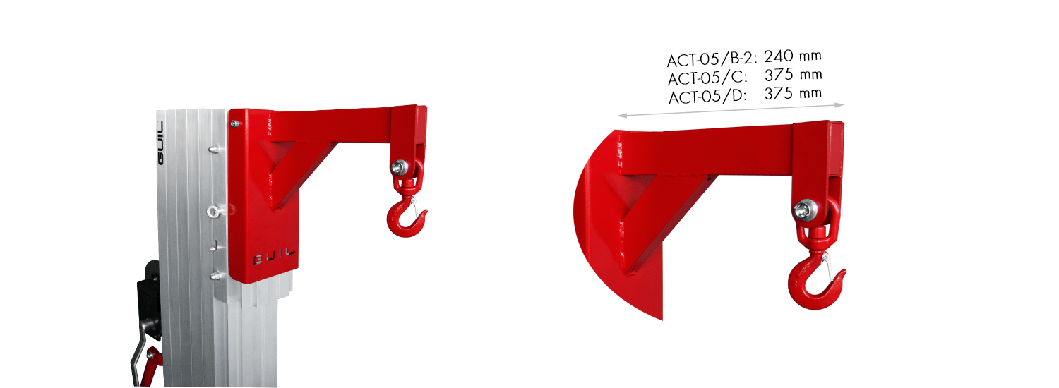Converts material lifts into a mobile crane-ACT-05
