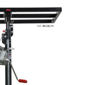 Adaptador-bandeja rectangular para elevar cargas