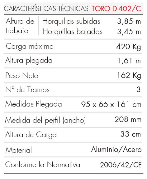 Elevador-de-Carga-TORO-D-402-C-Tabla