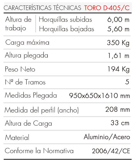 Elevador-de-Carga-TORO-D-405-C-Tabla