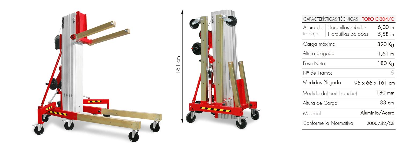 Transpaleta apiladora manual para cualquier tipo de carga