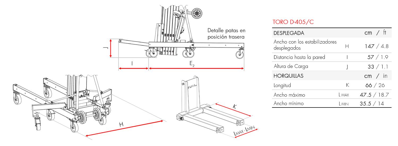 Elevador de carga TORO D-405-C