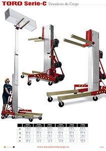6 versiones de elevadores de carga serie C