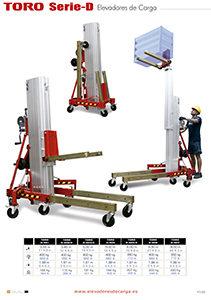 7 versiones de elevadores de carga hasta 400 kg y 8 metros