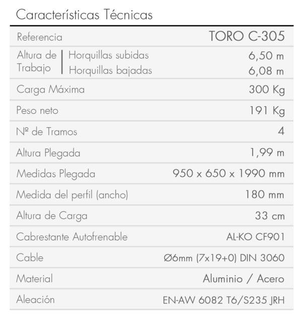 TORO C-305-es