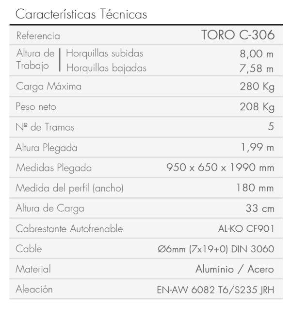 TORO C-306-es