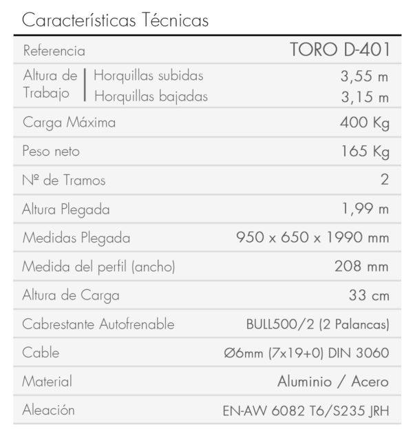 TORO D-401-es