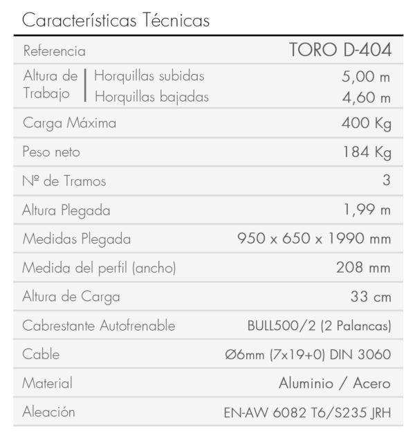 TORO D-404-es