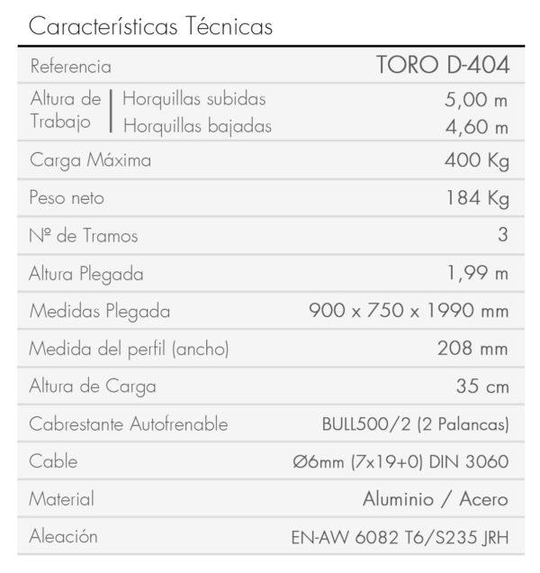 TORO D-404_es