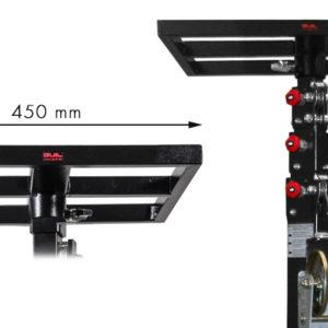 Bandeja cuadrada para tubo de inserción de Ø 35 mm (Hembra)