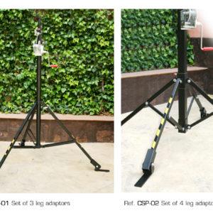 Leg adaptors for Lifting towers