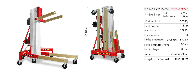 Material Lifter TORO C-302-C