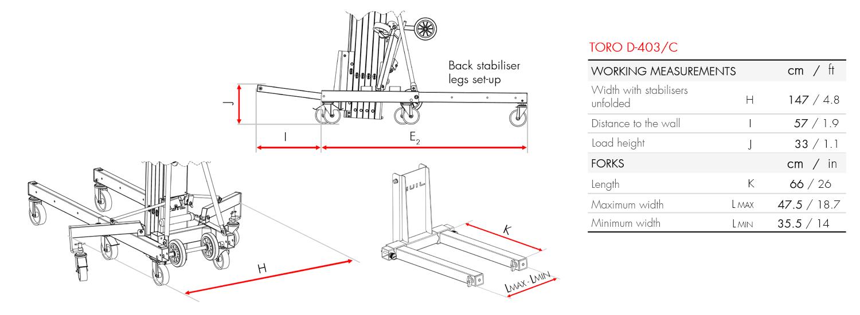 Material Lifter TORO D-403-C