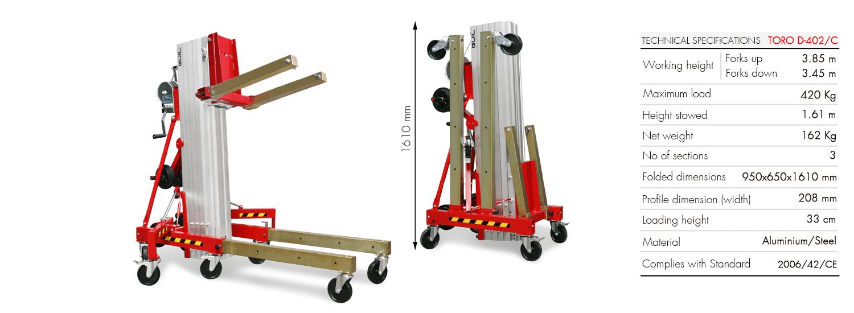 Material Lifter TORO D-402-C