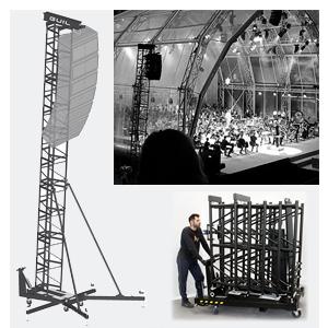 Torres para volar equipos de sonido (P.A.)